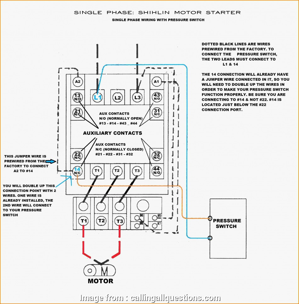 16 Nice 1 Phase Motor Starter Wiring Diagram Collections
