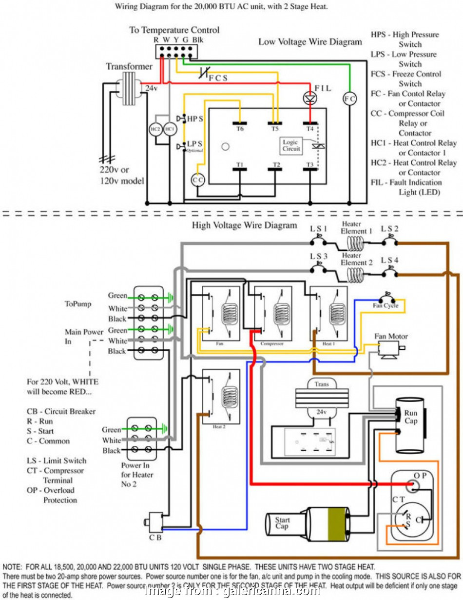 110v Thermostat Wiring Diagram Perfect Goodman  Handler