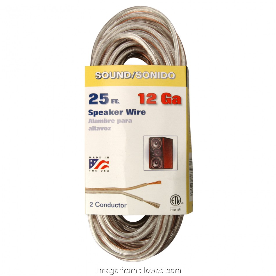 12 gauge speaker wire lowes Shop Coleman Cable 25-ft 12-AWG Flat Speaker Wire (By-The-Roll) at 13 Nice 12 Gauge Speaker Wire Lowes Galleries