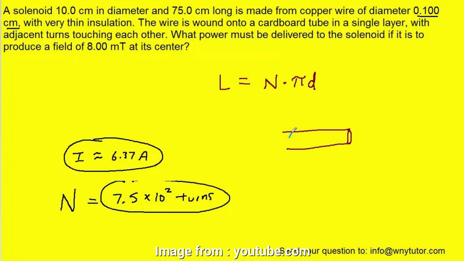 12 gauge wire diameter with insulation A solenoid 10.0 cm in diameter, 75.0 cm long is made from copper wire of diameter 0.100, with, YouTube 9 Fantastic 12 Gauge Wire Diameter With Insulation Galleries