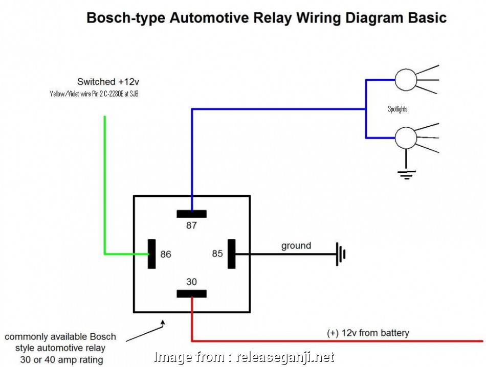 12v Automotive Relay Wiring Diagram New Automotive Relay