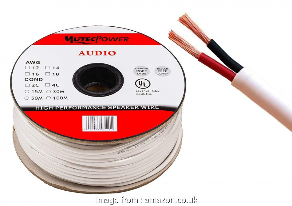 16 gauge speaker wire uk Mutec-Cable -Speaker Wire, 1.5mm² (16AWG), CL2 Rated UL Listed Oxygen Free Copper (For In-Wall Installation) 30 Meter 12 Popular 16 Gauge Speaker Wire Uk Collections