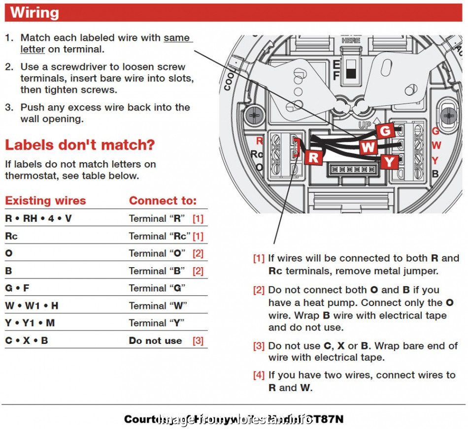 2 Wire Thermostat Wiring Diagram Simple Honeywell Thermostat
