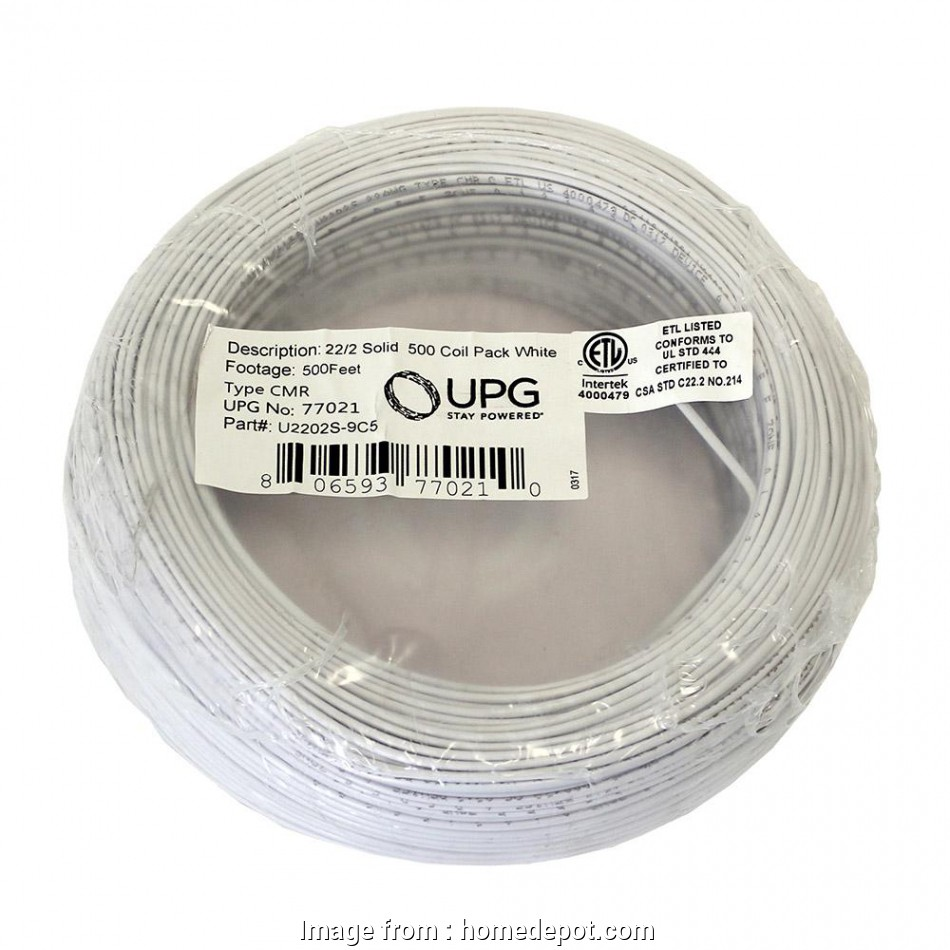 22 gauge 2 conductor bell wire 500, Coil Pack of 22-Gauge 2-Conductor White Alarm Cable 10 New 22 Gauge 2 Conductor Bell Wire Ideas
