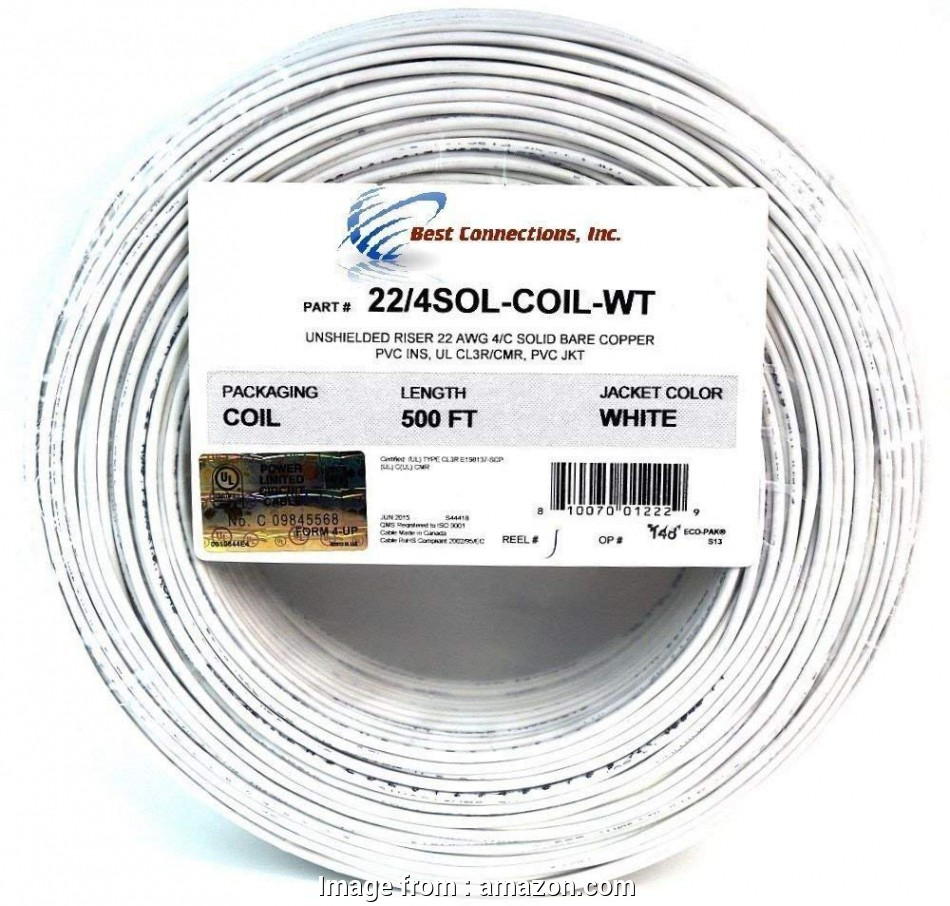 22 gauge 4 conductor solid wire Amazon.com:, 500' ft 22 Gauge 4 Conductor Solid Security Alarm Wire Cable White Flexible: Electronics 11 Simple 22 Gauge 4 Conductor Solid Wire Ideas