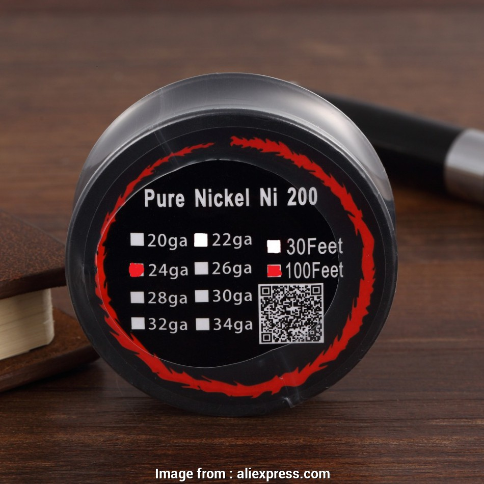 24 gauge nickel wire PURE NICKEL Ni200 Pure Nickel Wire, Feets with 24 Gauges E Cigarette, Coils, Temp Control, Mod-in Cable Winder from Consumer Electronics on 17 Cleaver 24 Gauge Nickel Wire Ideas