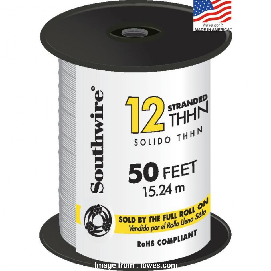 24 gauge stranded wire Shop Southwire 50-ft 12-AWG Stranded White Copper THHN Wire (By 8 Fantastic 24 Gauge Stranded Wire Pictures