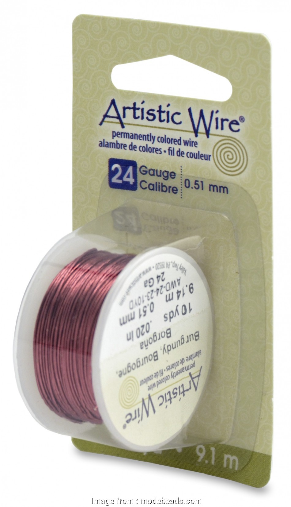 24 gauge wire to mm Artistic Wire, 24 Gauge (.51 mm), Burgundy, 10 yd (9.1 m) 16 Brilliant 24 Gauge Wire To Mm Images