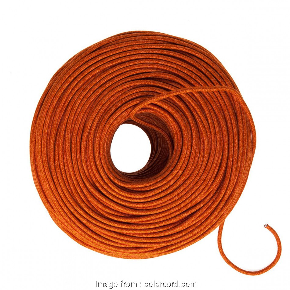 26 gauge cloth covered wire DIY Fabric Wire by, Foot -, Orange Mini Tweed (Cotton Blend) 17 Professional 26 Gauge Cloth Covered Wire Images