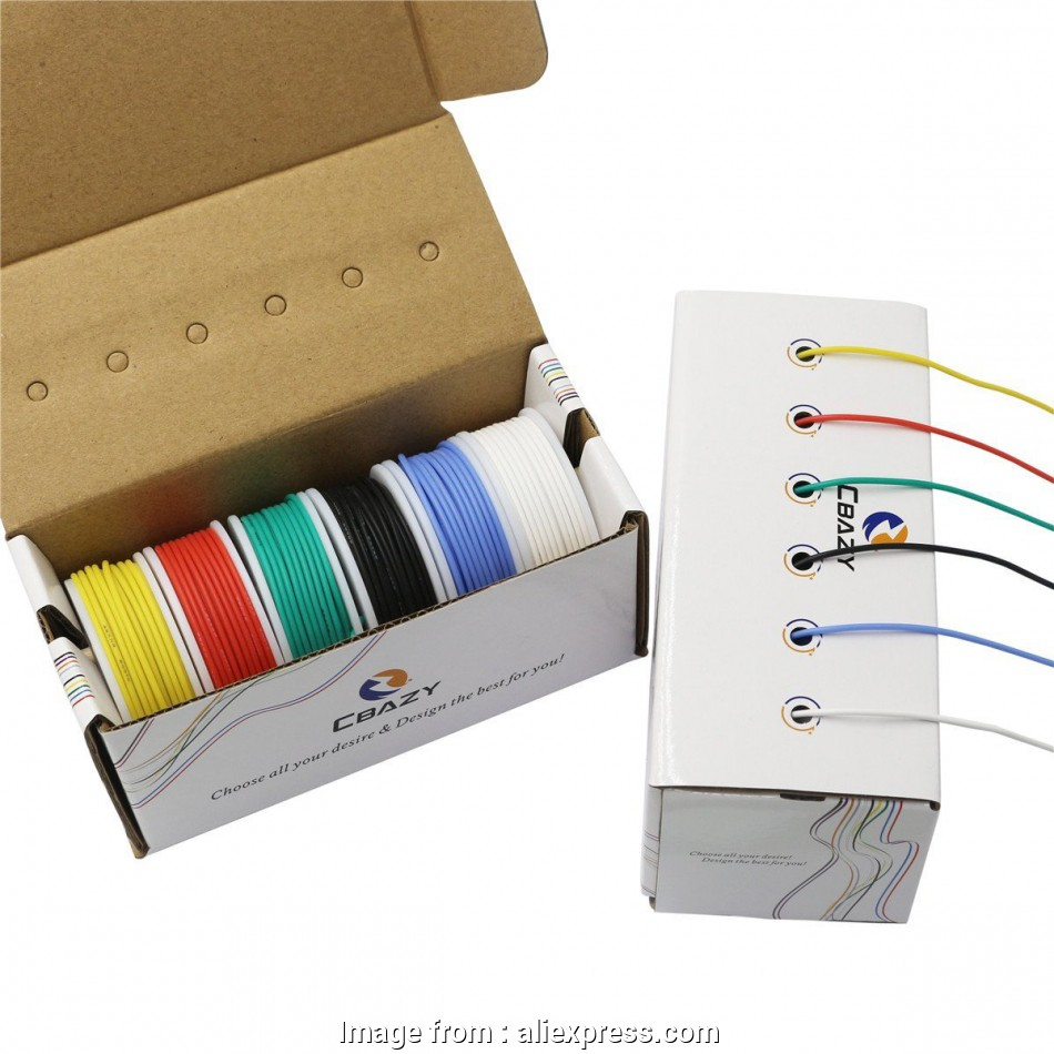 26 gauge wire rating CBAZY Hook up Wire, (Stranded Wire Kit) 22 Gauge Flexible Silicone rubber Electric 10 Professional 26 Gauge Wire Rating Collections