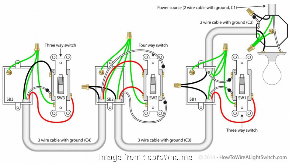 Diagram  4 Way Switch Wiring Diagram Light Middle Full