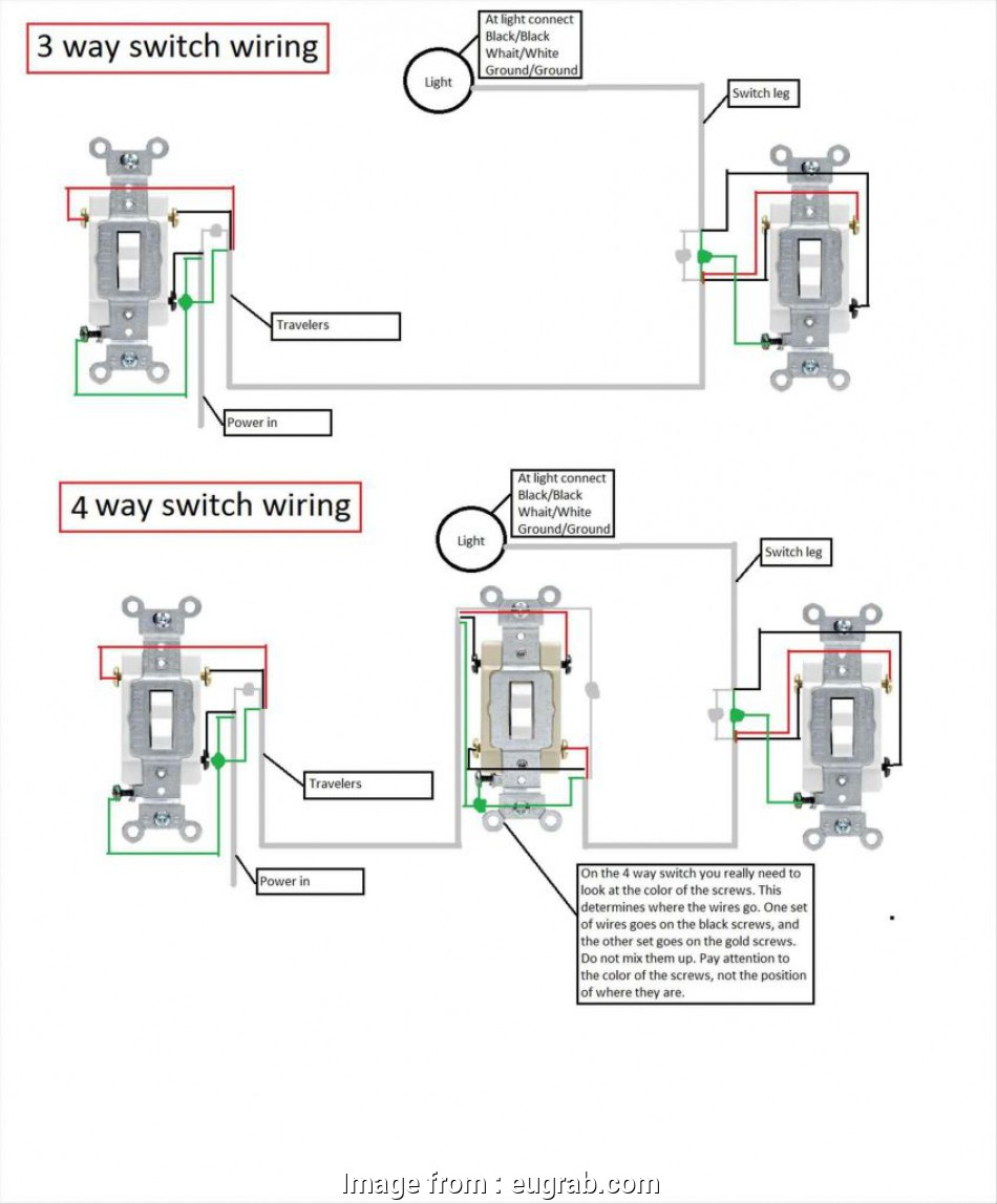3 Switch Wiring Light In Middle Perfect Wire Diagram Addition Further 4 Way The Save
