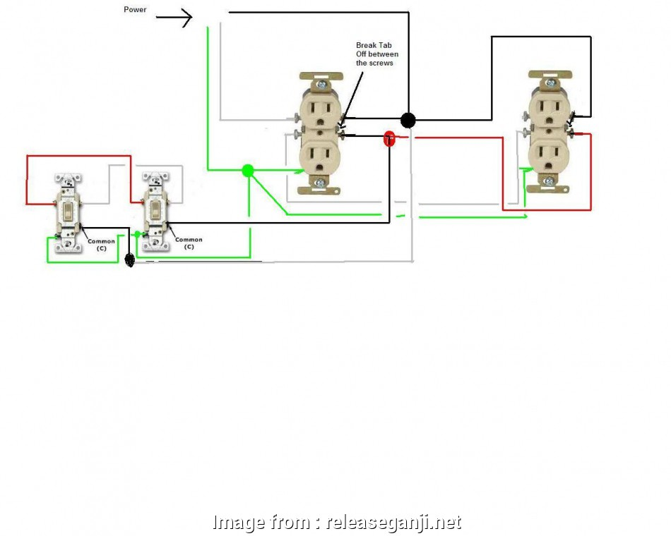 3 way switch wiring outlet 3, Outlet Wiring Diagram Techrush Me Bright, releaseganji.net 13 Perfect 3, Switch Wiring Outlet Collections