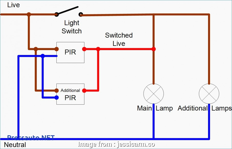 3  Switch Wiring Power Into Light Simple Single Pole