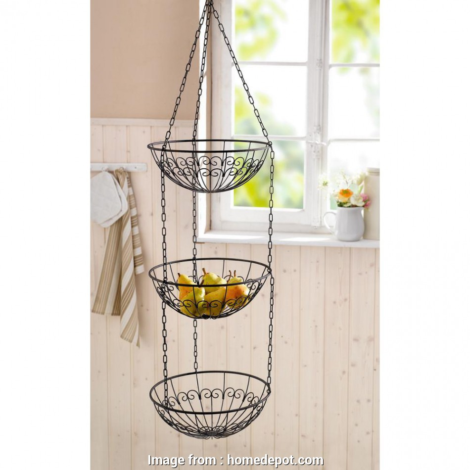 3 tier wire mesh hanging baskets null 3-Tier Metal Wire Hanging Fruit Bowl Basket 9 Nice 3 Tier Wire Mesh Hanging Baskets Images