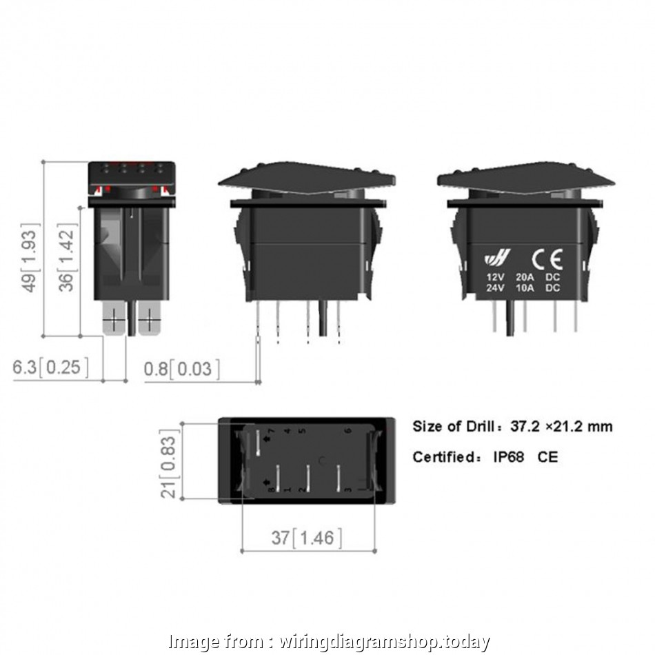 4 Prong Toggle Switch Wiring Simple Wiring Diagram  Led