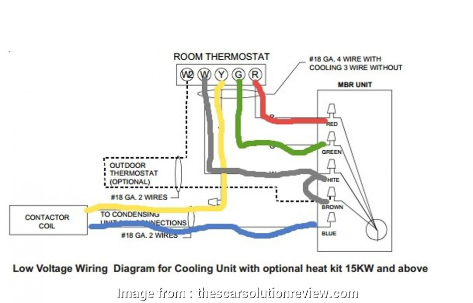 Diagram 4 Wire Thermostat Wiring Color Code