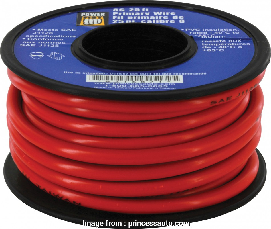 6 awg primary wire 8 Gauge 25 ft Primary Wire, Princess Auto 14 Top 6, Primary Wire Collections