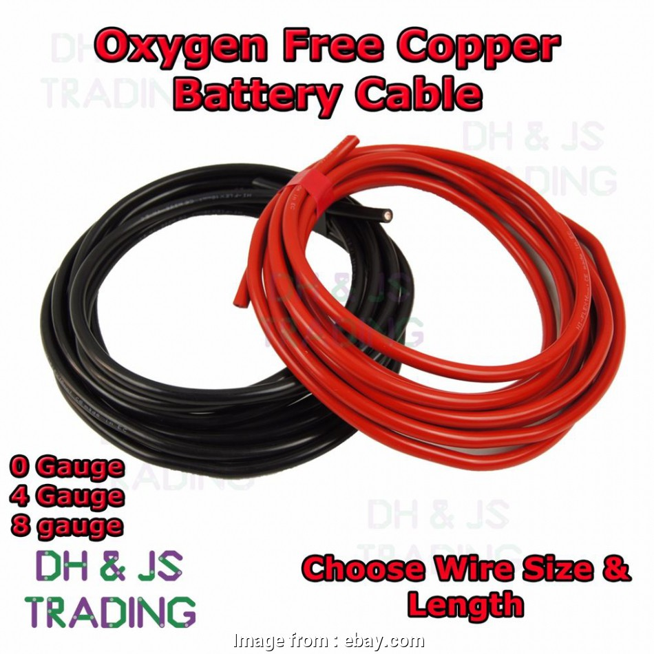 8 gauge wire vs 4 gauge 0, Gauge Battery Earth Power Cable 0AWG 4AWG 8AWG Oxygen Free Copper, Wire, eBay 11 Brilliant 8 Gauge Wire Vs 4 Gauge Images