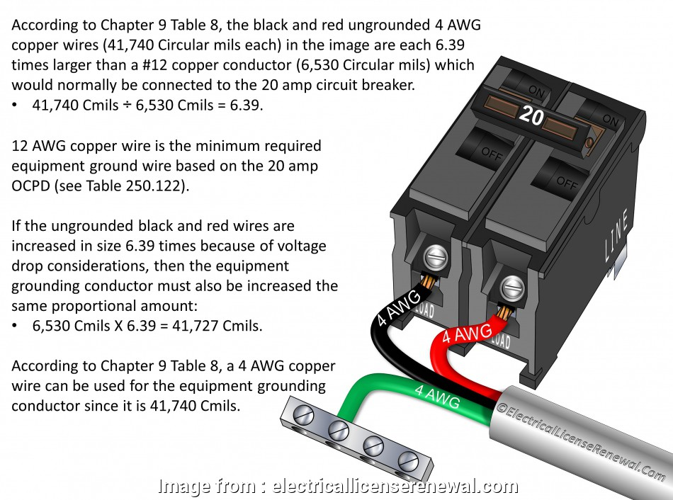 8 awg wire breaker size 250.122(B) Size of Equipment Grounding Conductors. Increased in Size 8, Wire Breaker Size Top 250.122(B) Size Of Equipment Grounding Conductors. Increased In Size Collections