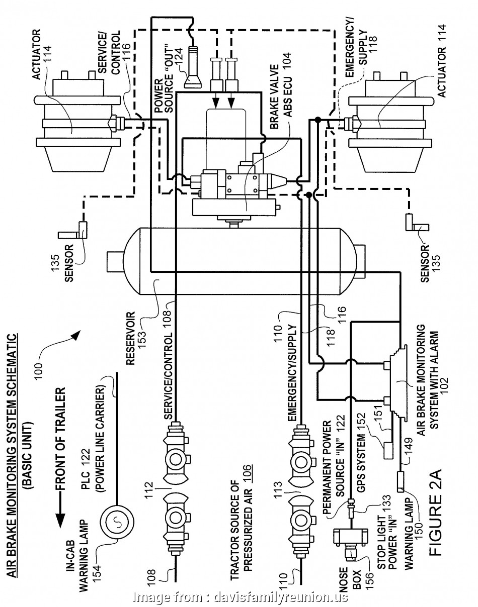Air Brake Trailer Wiring Diagram Nice Kenworth  Brake