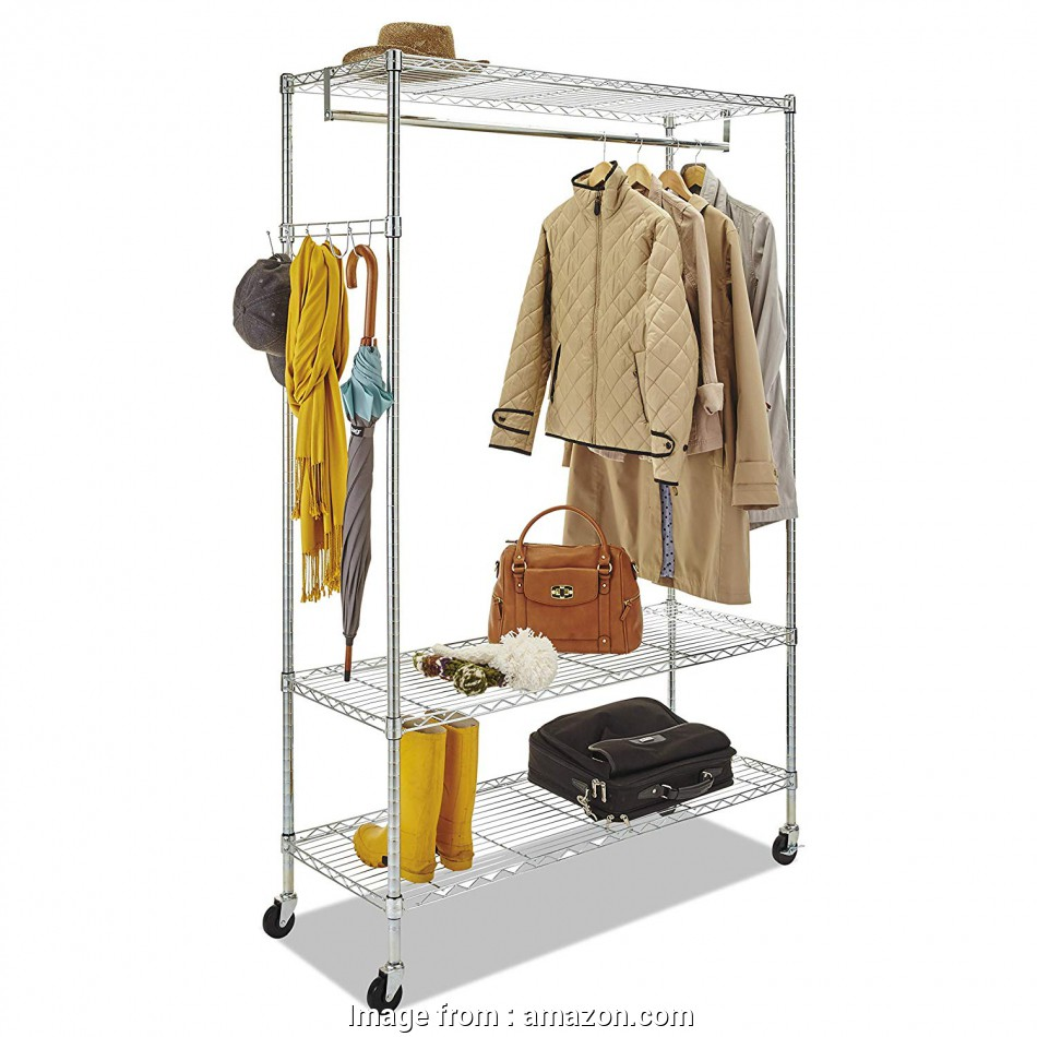 alera wire shelving garment rack chrome Amazon.com: Alera GR364818SR Wire Shelving Garment Rack, Coat Rack, Stand Alone Rack w/Casters, Silver: Kitchen & Dining 15 Simple Alera Wire Shelving Garment Rack Chrome Images