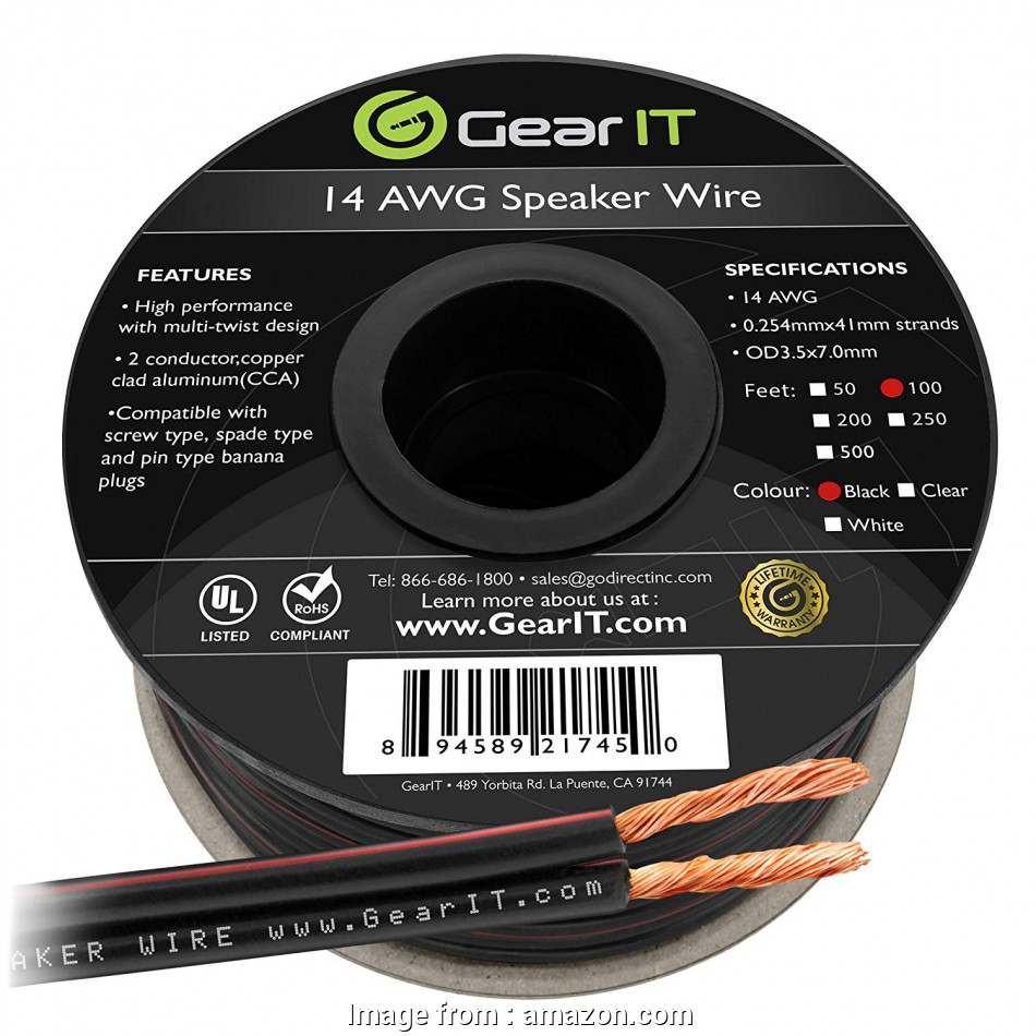 amazon speaker wire 14 gauge Amazon.com: 14AWG Speaker Wire, GearIT, Series 14, Gauge Speaker Wire Cable (100 Feet / 30.48 Meters) Great, for Home Theater Speakers, Car 17 Best Amazon Speaker Wire 14 Gauge Pictures
