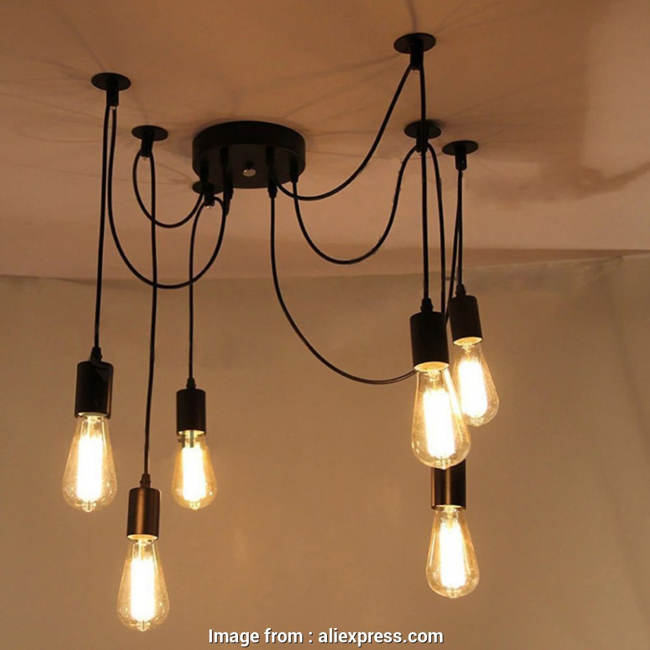 antique wire pendant light Aliexpress.com :, Good Looking Eletrical Wire Pendant Light With 6 heads,E27 Pendant Lamp Edison Vintage Spider Ceiling Lamps, Home/Living Room from 8 Cleaver Antique Wire Pendant Light Collections