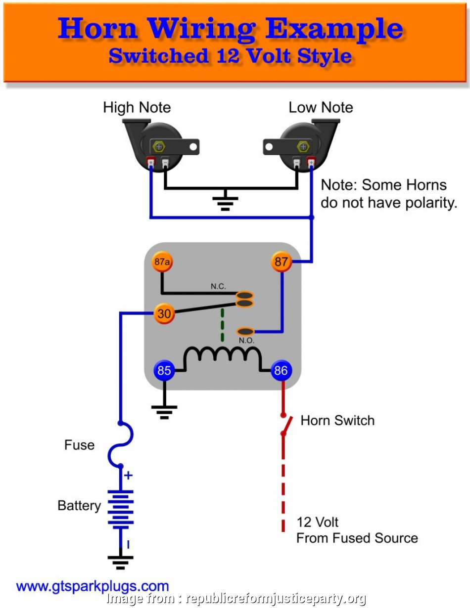 Automotive Wiring Relays Diagram Perfect Horn Relay Wiring