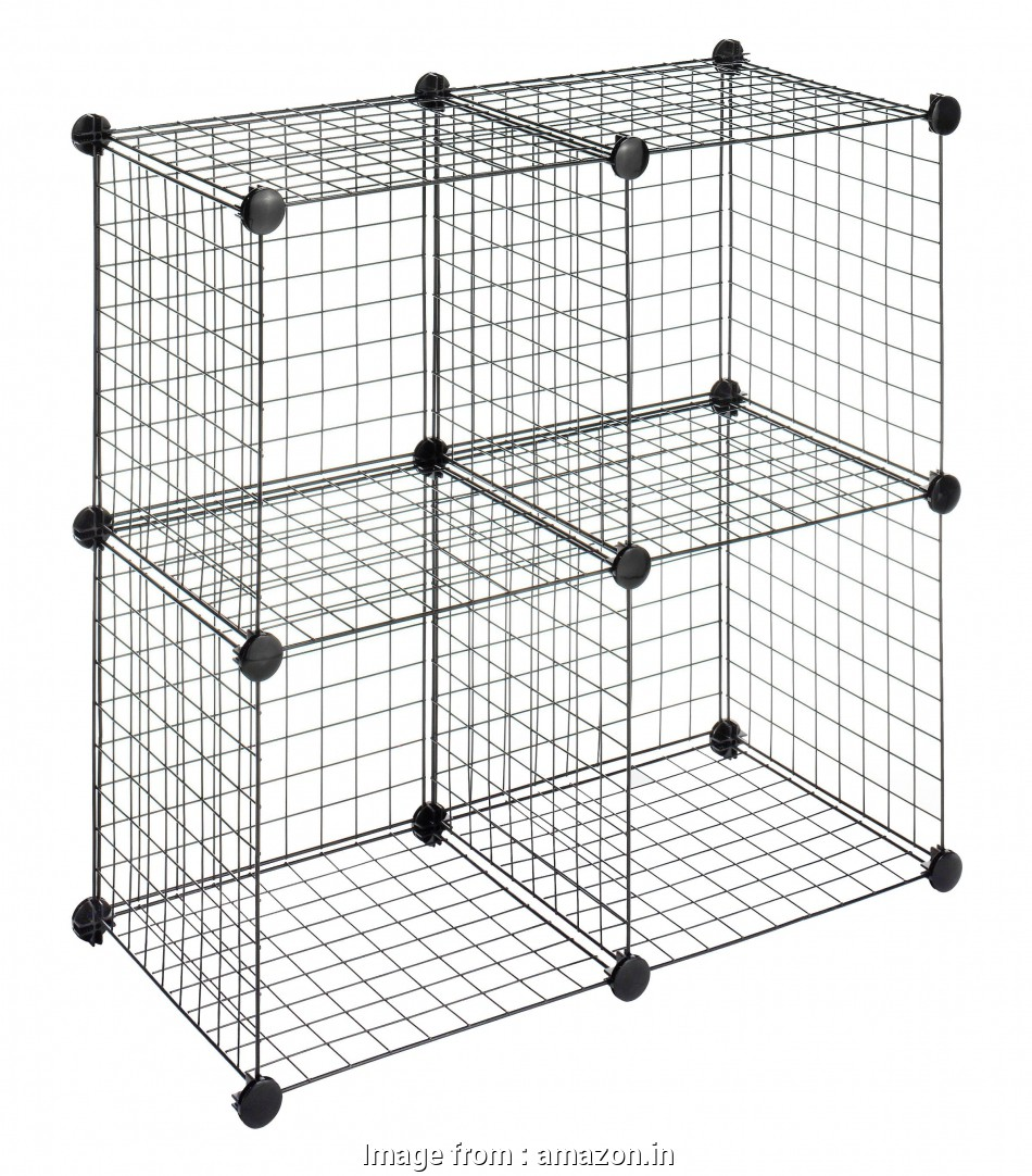 black wire cube shelving Whitmor Storage Cubes, Stackable Interlocking Wire Shelves -Black (Set of 4) 10 Popular Black Wire Cube Shelving Ideas