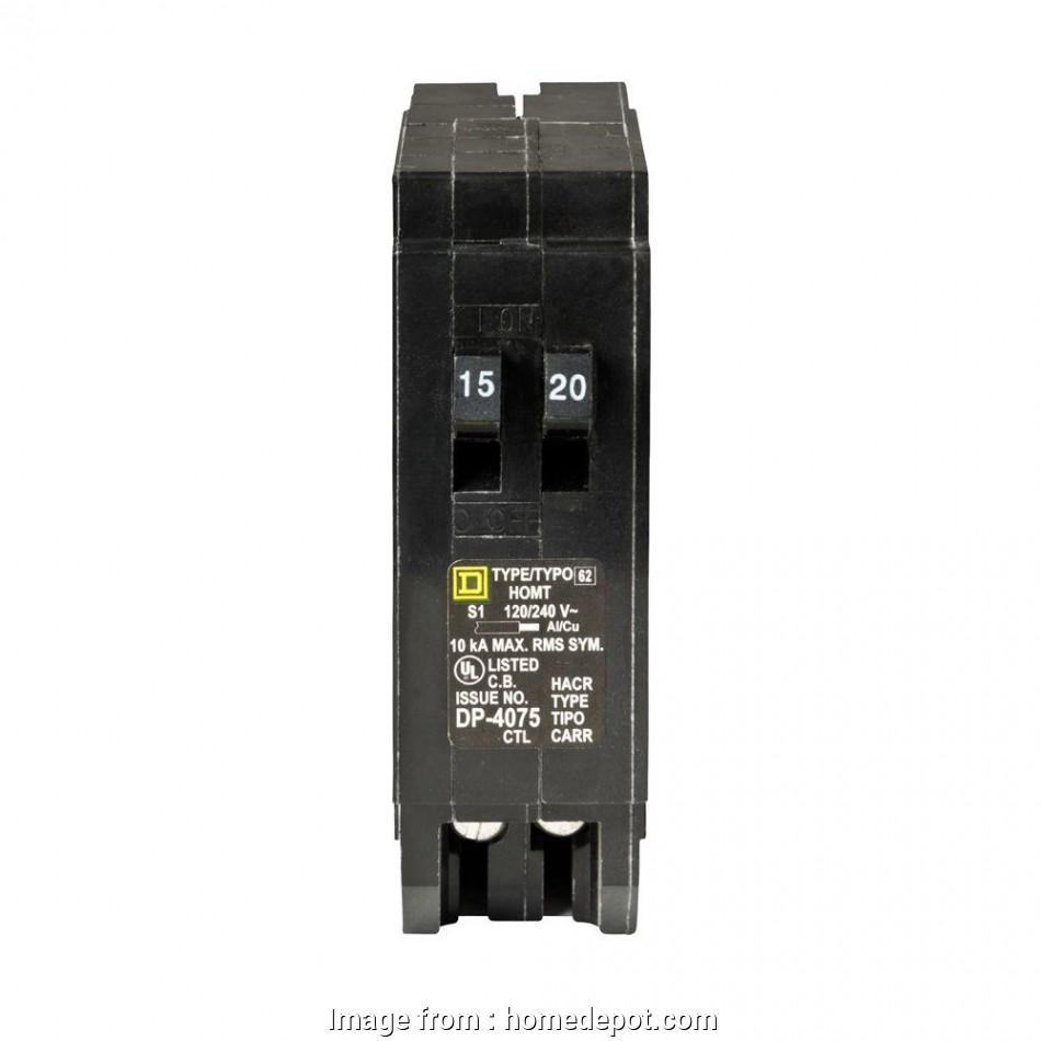 can 12 gauge wire be used with a 15 amp breaker Square D Homeline 15, 20, Single-Pole Tandem Circuit Breaker Can 12 Gauge Wire Be Used With A 15, Breaker Nice Square D Homeline 15, 20, Single-Pole Tandem Circuit Breaker Galleries