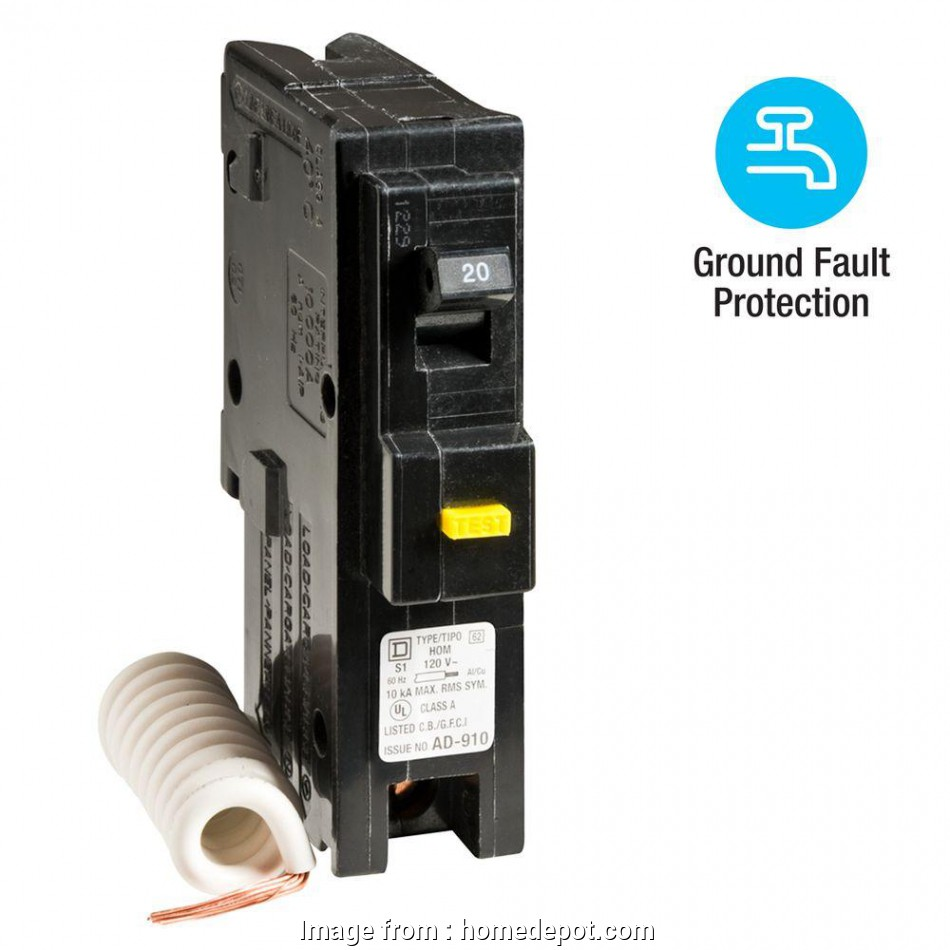 can 12 gauge wire be used with a 15 amp breaker Square D Homeline 20, Single-Pole GFCI Circuit Breaker Can 12 Gauge Wire Be Used With A 15, Breaker Creative Square D Homeline 20, Single-Pole GFCI Circuit Breaker Pictures
