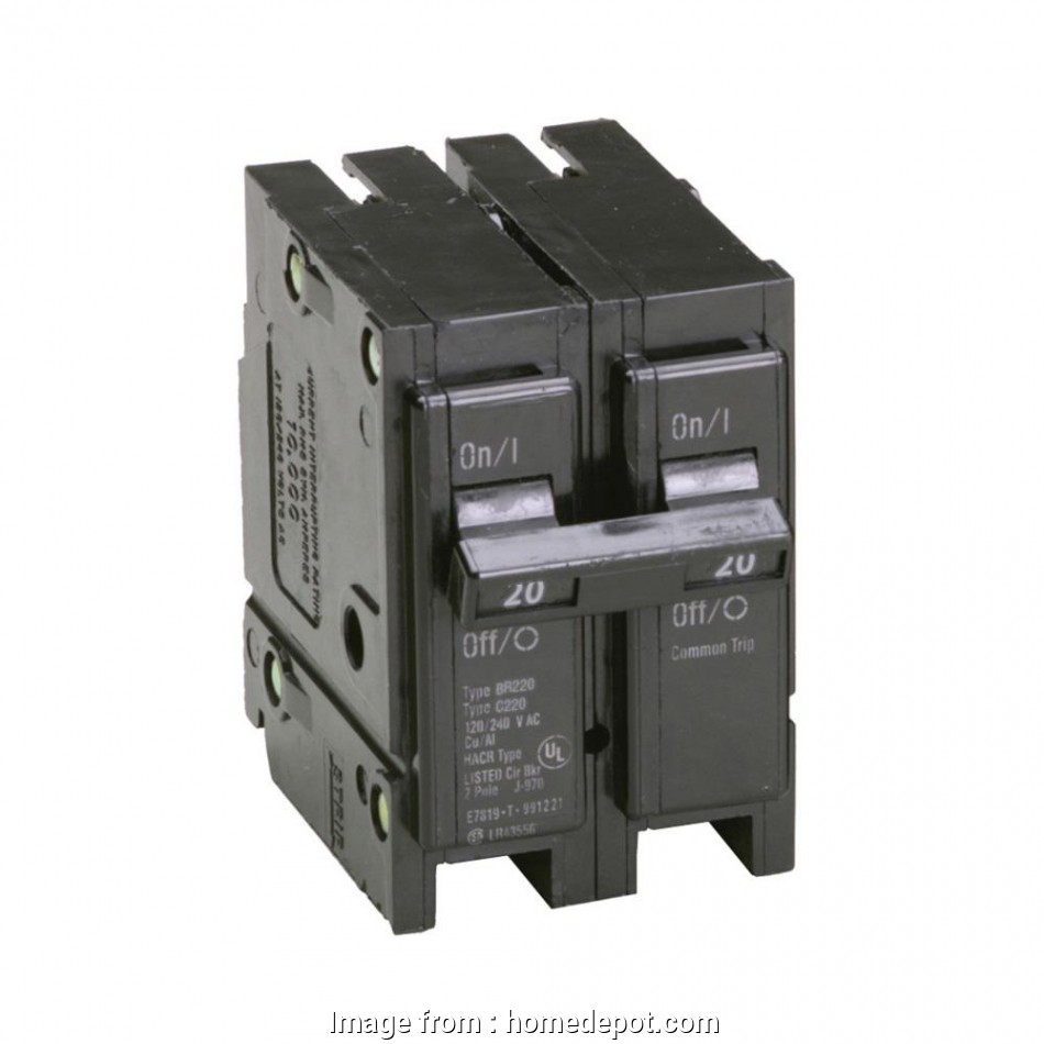 can 14 gauge wire used 20 amp circuit Eaton BR 20, 2 Pole Circuit Breaker 17 Top Can 14 Gauge Wire Used 20, Circuit Pictures