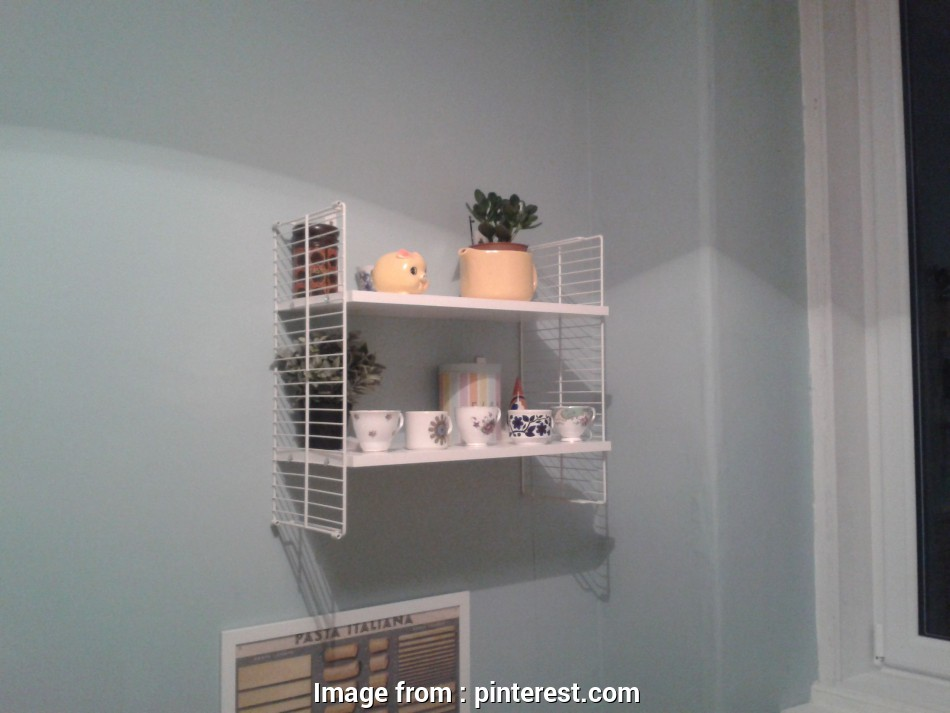 Chrome Wire Shelf Ikea Perfect Faux Retro String Shelving Ikea Hack