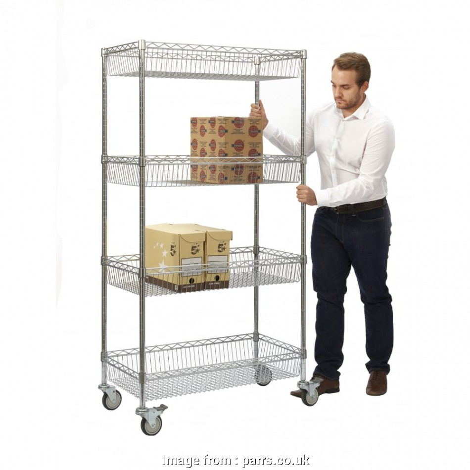 chrome wire shelf trolleys Chrome Wire Shelf Trolley Cap: 320kg 13 Practical Chrome Wire Shelf Trolleys Galleries