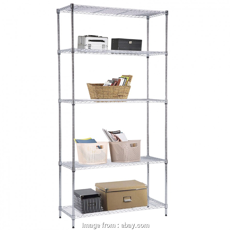 chrome wire shelving south africa Details about Adjustable 5 Tier 73
