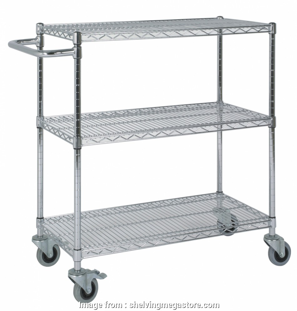 chrome wire shelving trolley Low Chrome Wire 3 Tier Trolley with Handle 13 Best Chrome Wire Shelving Trolley Galleries