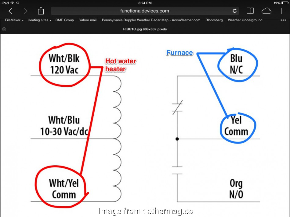 Common Thermostat Wiring Diagram Nice Wiring Up A  Relay