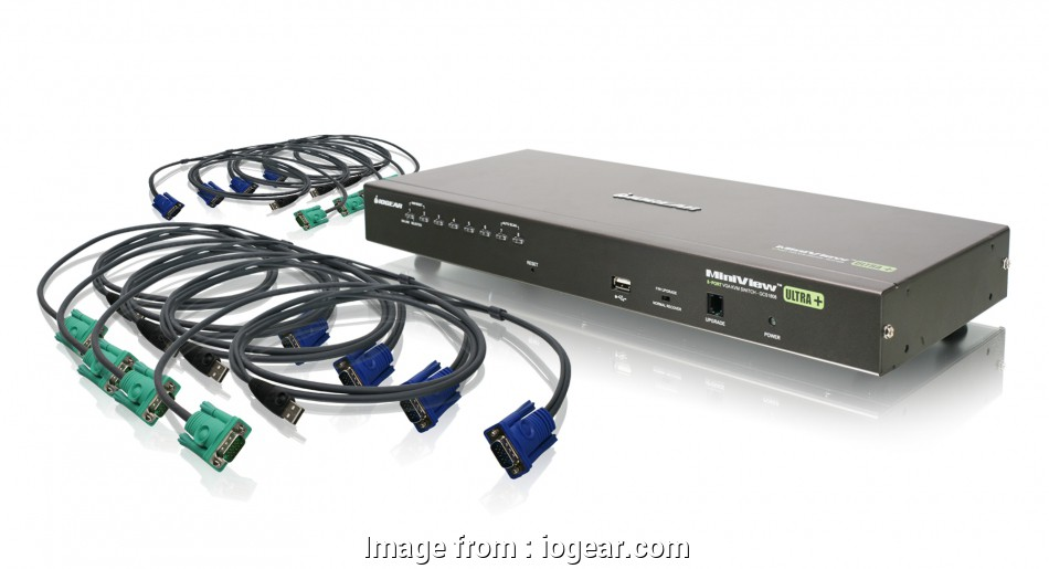 connect a kvm switch IOGEAR, GCS1808KITU, 8-Port, PS/2 Combo, KVM Switch with 12 Brilliant Connect A, Switch Images