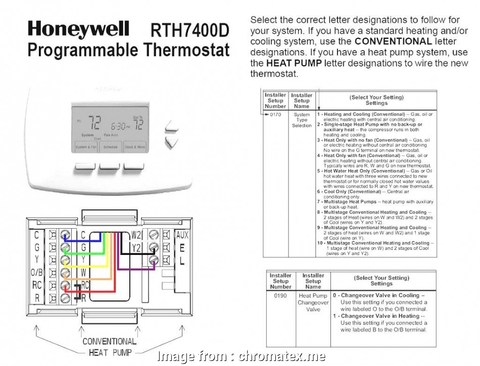Conventional Thermostat Wiring Diagram Most Goodman Heat ... on