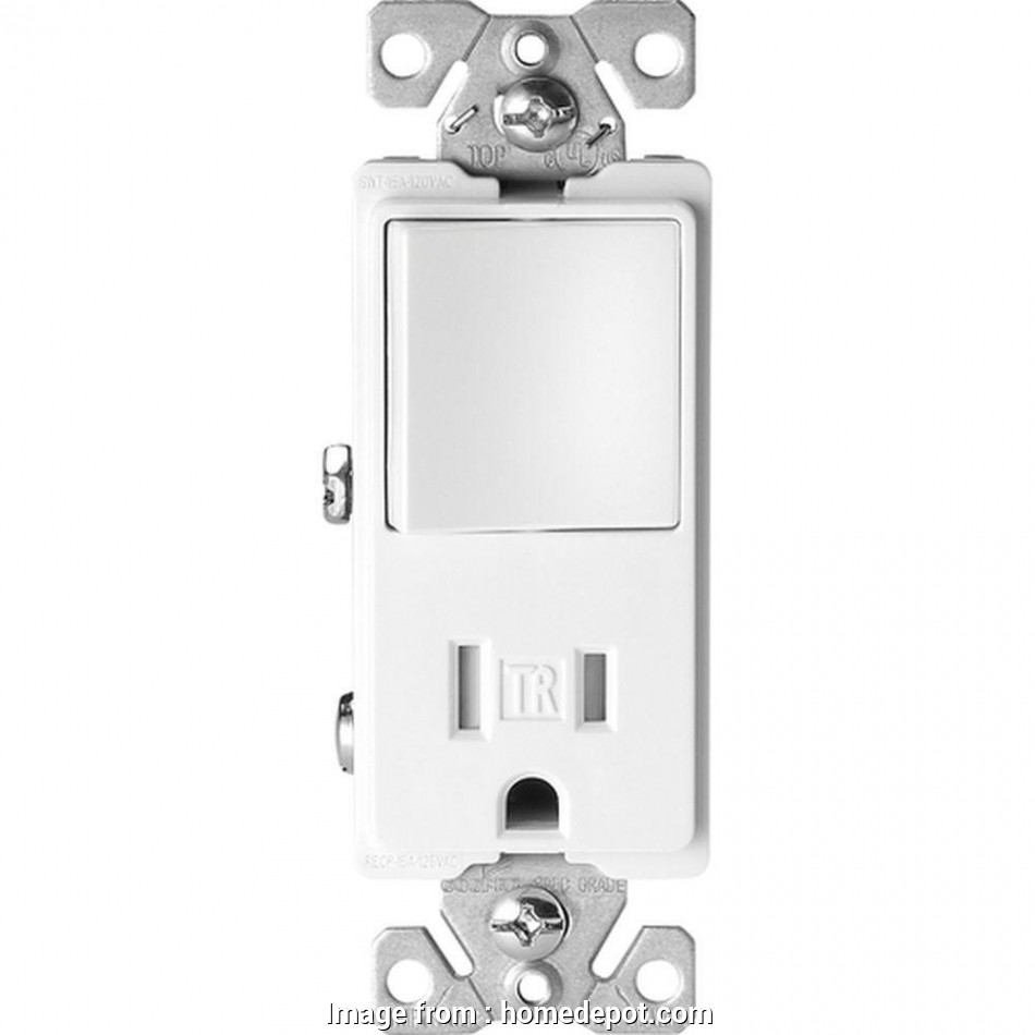 Cooper Wiring Devices Single Pole Switch  Grounding Receptacle Simple Eaton 15  Tamper Resistant