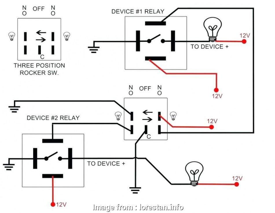 Single Pole Relay Wiring Diagram from tonetastic.info