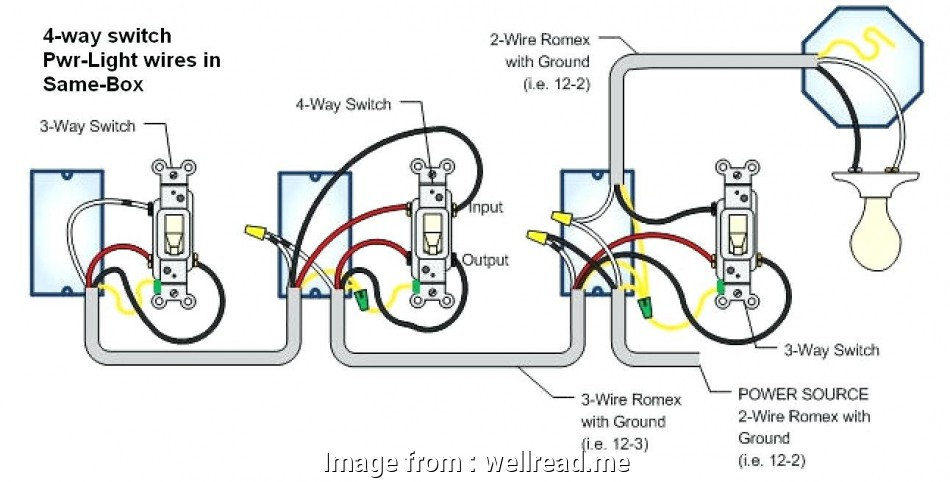 Four Way Switch Wiring House - Catalogue of Schemas  Pole Switch Wiring Diagram Electric Light on