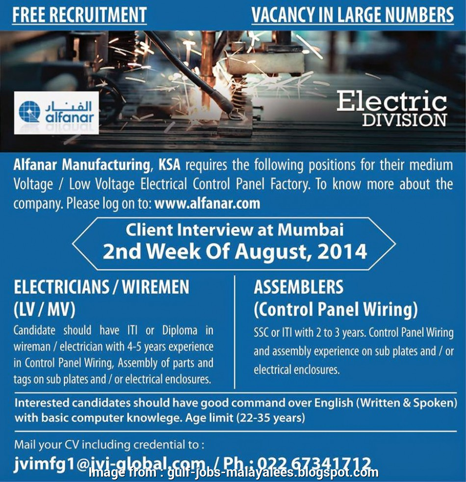 electrical panel wiring jobs in mumbai Alfanar, Large, Vacancies, Electric Division, Free Recruitment Electrical Panel Wiring Jobs In Mumbai Popular Alfanar, Large, Vacancies, Electric Division, Free Recruitment Solutions