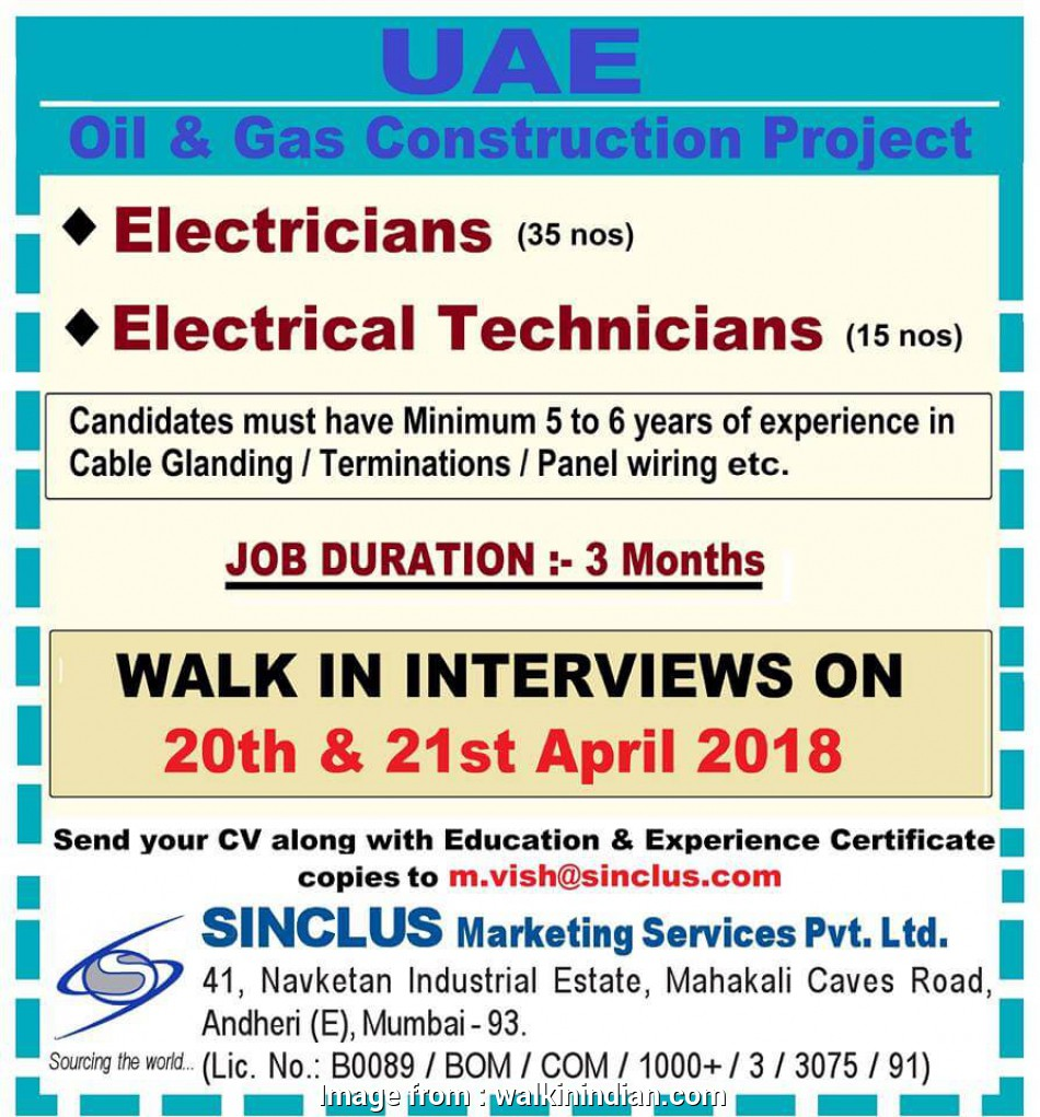 electrical panel wiring jobs in mumbai Electricians / Electrical Technicians, Oil &, Project in, (5, Yrs Exp.) Electrical Panel Wiring Jobs In Mumbai New Electricians / Electrical Technicians, Oil &, Project In, (5, Yrs Exp.) Photos