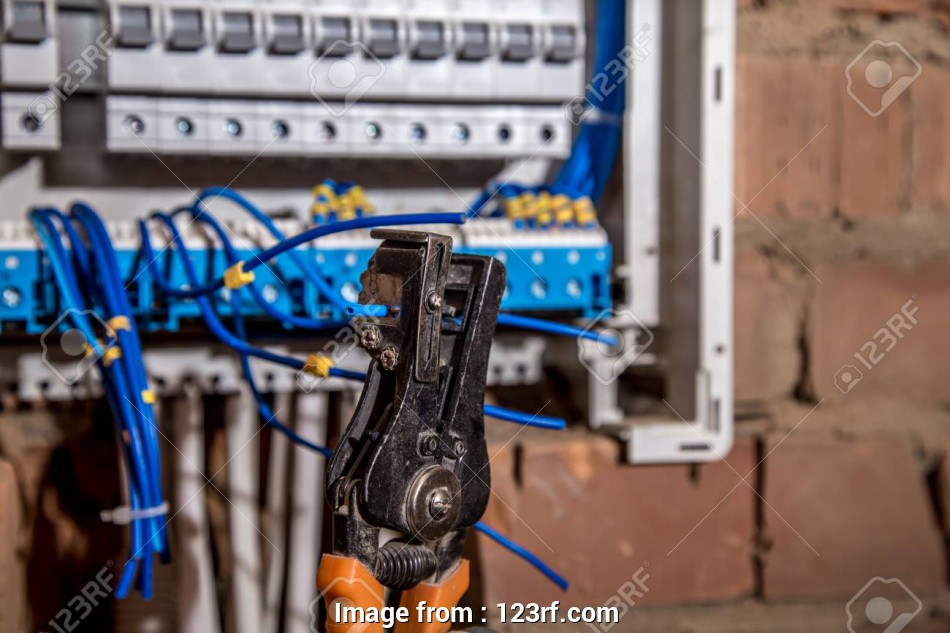 electrical panel wiring tools Stock Photo -, Assembly of, electrical panel, electrician job, a robot with wires, circuit breakers, tools 10 Simple Electrical Panel Wiring Tools Collections