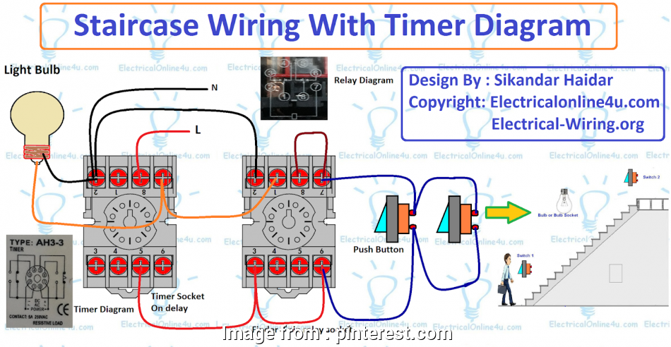 electrical timer wiring diagram This post is about, staircase timer wiring diagram. In, diagram i, the on delay timer, finder 8, relay, relay, timer socket 13 Simple Electrical Timer Wiring Diagram Ideas