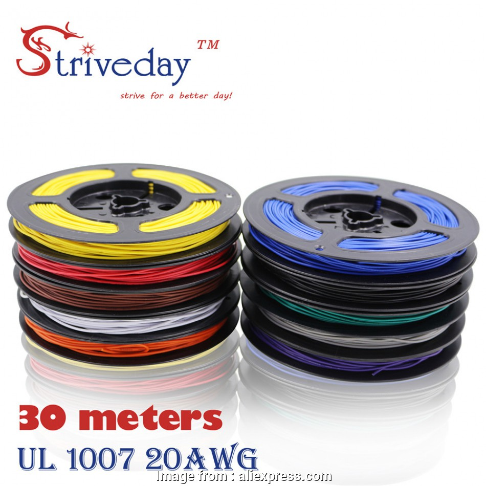 electrical wire colors red black 30 meters 98.4 ft UL 1007 20, Cable Tinned copper Wire, Electronic wire 10 18 Fantastic Electrical Wire Colors, Black Ideas