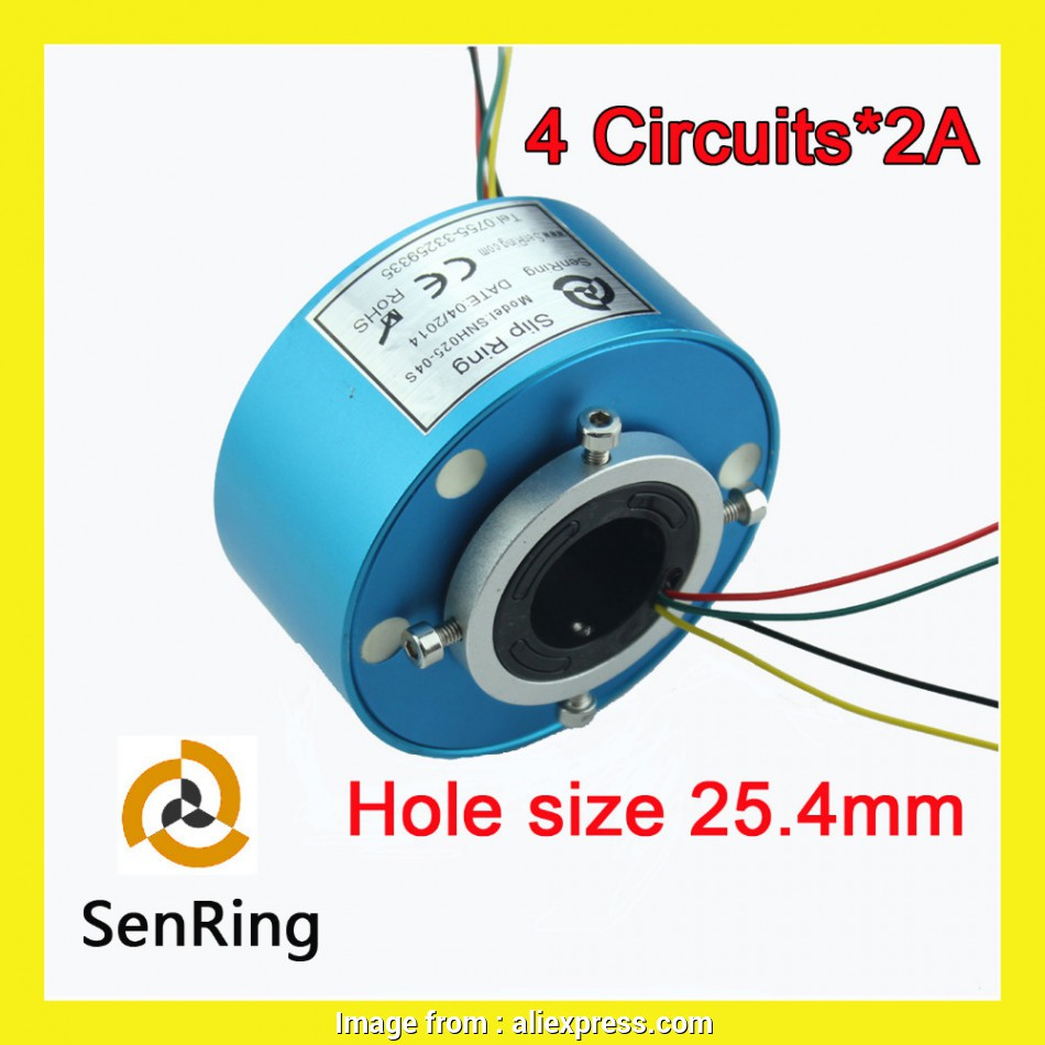 electrical wire hole size Through hole slip ring Senring manufacturer electrical connector 4 circuits signal of bore size 25.4mm-in Cables from Consumer Electronics on Aliexpress.com 18 Most Electrical Wire Hole Size Ideas