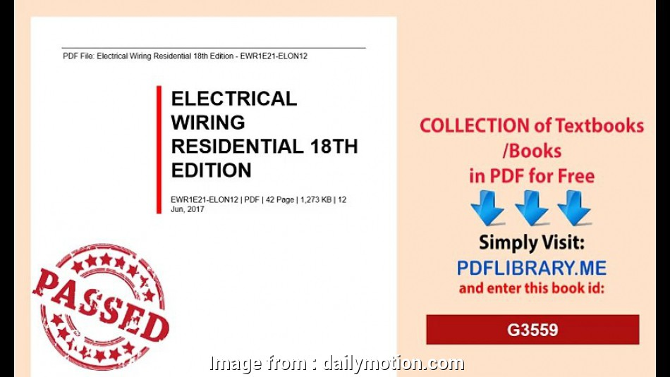 Tremendous Electrical Wiring Residential 18Th Edition Pdf Creative Electrical Wiring 101 Archstreekradiomeanderfmnl